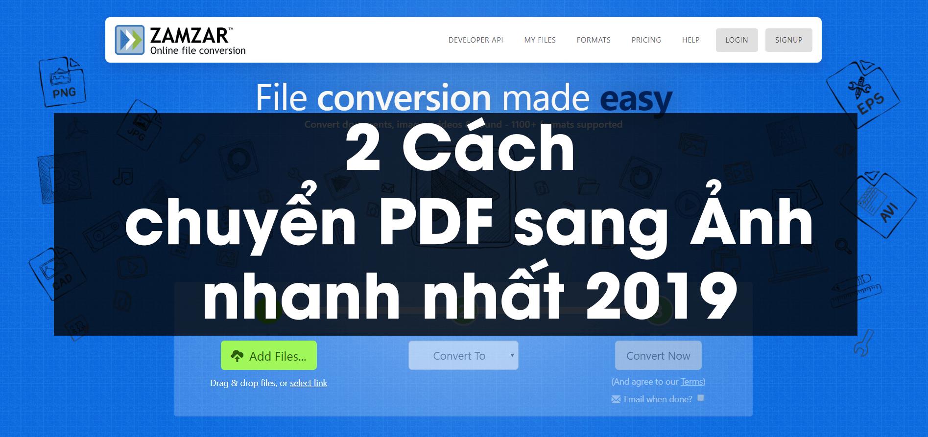 2 cách chuyển PDF sang Ảnh nhanh nhất 2019