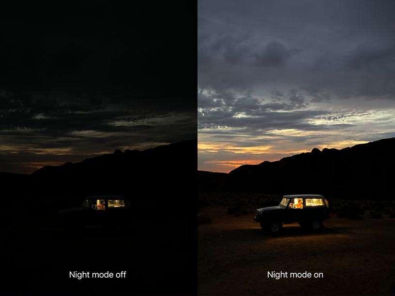 Hình ảnh về chế độ chụp Night Mode