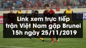 Link xem trực tiếp trận Việt Nam gặp Brunei 15h ngày 25/11/2019