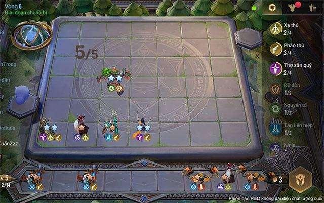 Giao diện chơi Cờ nhân phẩm trên Liên Quân Mobile
