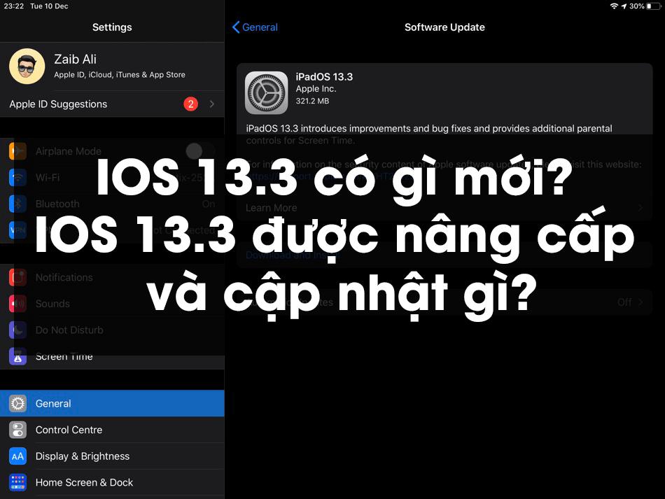 IOS 13.3 có gì mới? IOS 13.3 được nâng cấp và cập nhật gì?