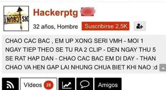 Hình ảnh chụp lại bài đăng của hacker. Ảnh: Người đưa tin
