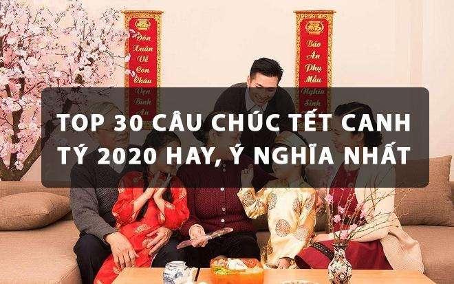 , Top 30 câu chúc Tết Canh Tý 2020 hay, ý nghĩa nhất
