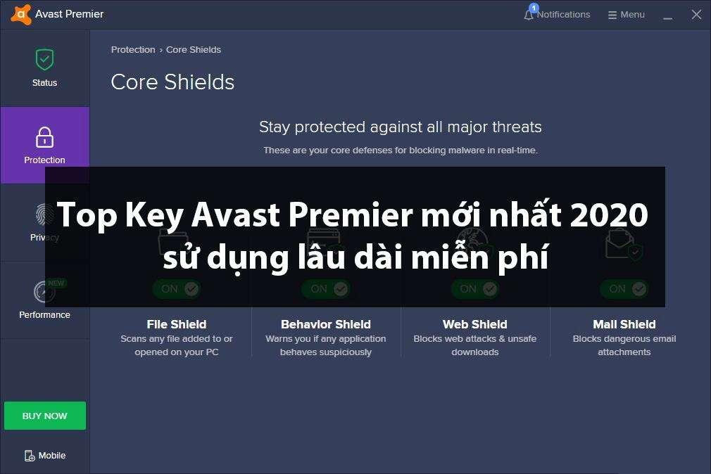 , Top Key Avast Premier mới nhất 2020 sử dụng lâu dài miễn phí