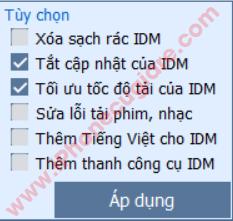 Tối ưu cho IDM sau khi cài