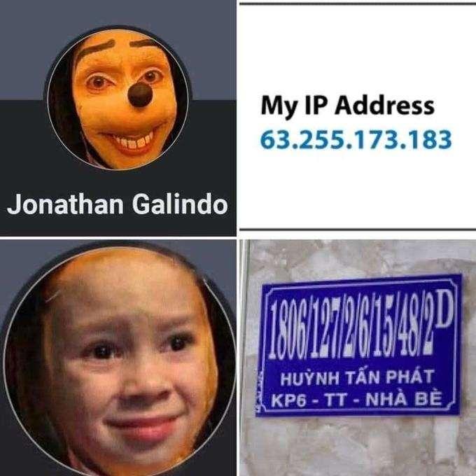 Jonathan Galindo thành trào lưu chế ảnh của cộng đồng mạng Việt Nam.