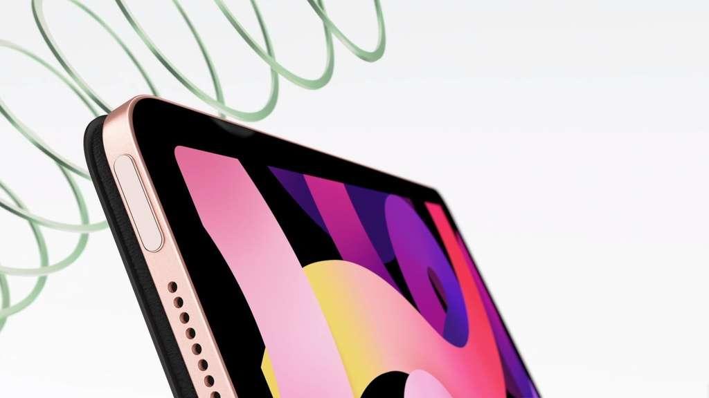 Nút nguồn của iPad Air 2020 tích hợp cảm biến vân tay Touch ID. Ảnh: Apple.