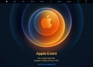 Thông báo mời tham dự sự kiện của Apple.