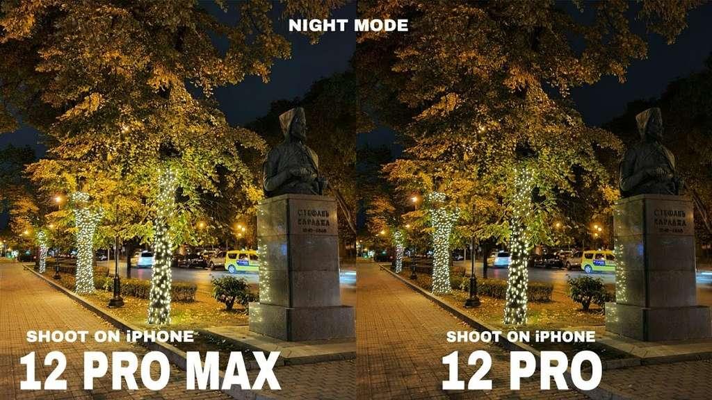 Ảnh chụp từ iPhone 12 Pro Max (trái) rõ nét hơn. Ảnh: MacRumors