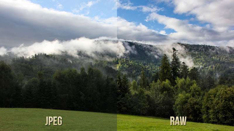 Những năm gần đây tính năng lưu ảnh RAW đã xuất hiện trên smartphone. Nguồn: WonderShare